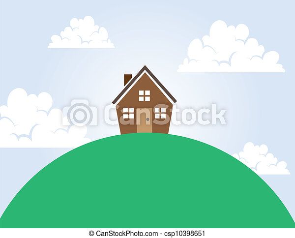 House on a Hill - csp10398651