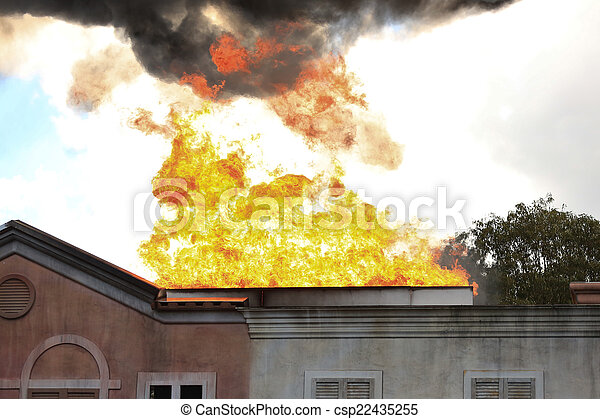 House on Fire - csp22435255