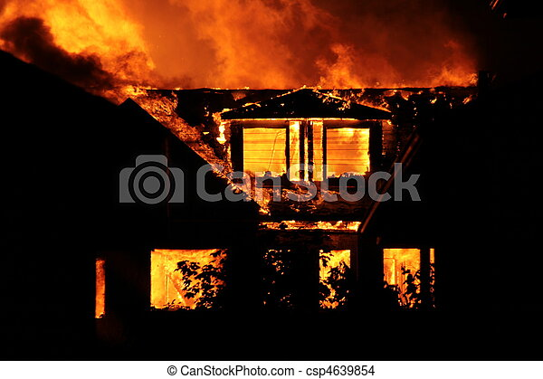 House on fire - csp4639854