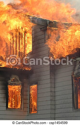 House on Fire - csp1454599