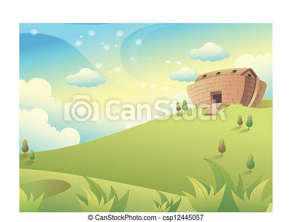 House on Green Mountain - csp12445057