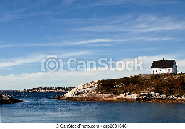 House on Nova Scotia Coast - csp20816461