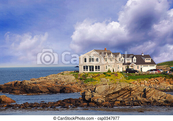House on ocean shore - csp0347977