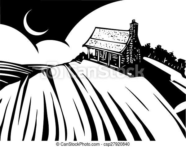 House on Prairie - csp27920840