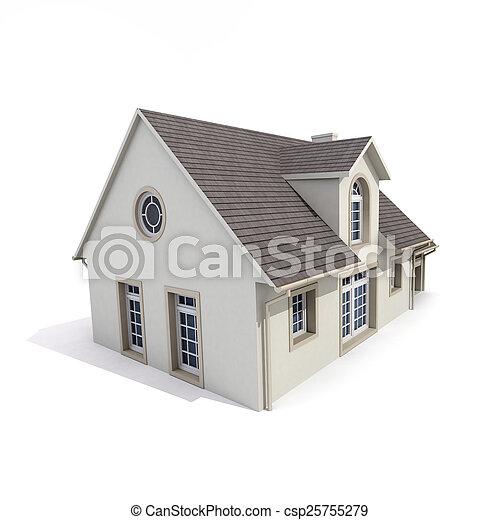 house on white background - csp25755279