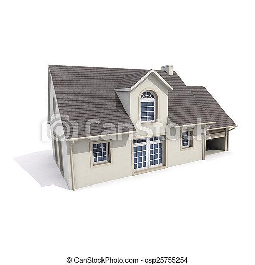 house on white background - csp25755254