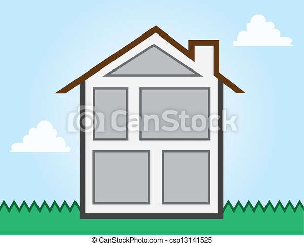 House Outline Rooms House Outline Showing Different