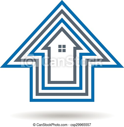 House outlines logo - csp29965557
