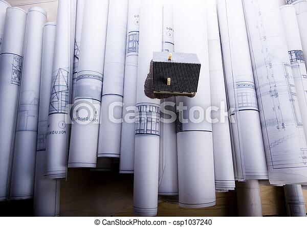 House plan blueprints - csp1037240