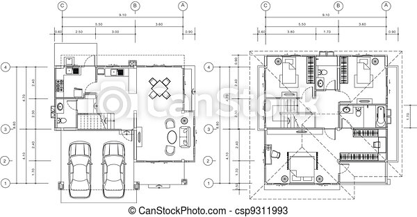 House plan . House plan vectors - Search Clip Art, Illustration ...
