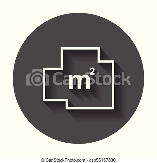 House plan simple flat icon. Vector illustration with long shadow. - csp55167830