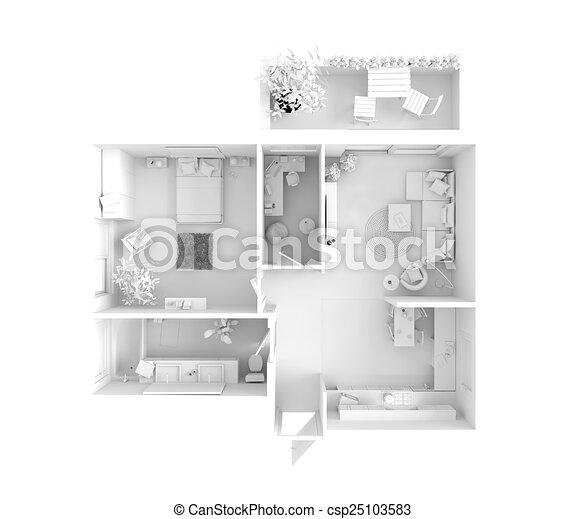 House Plan Top View Interior Design