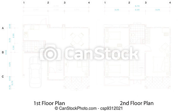 House plan . House plan vector clip art - Search Illustration ...