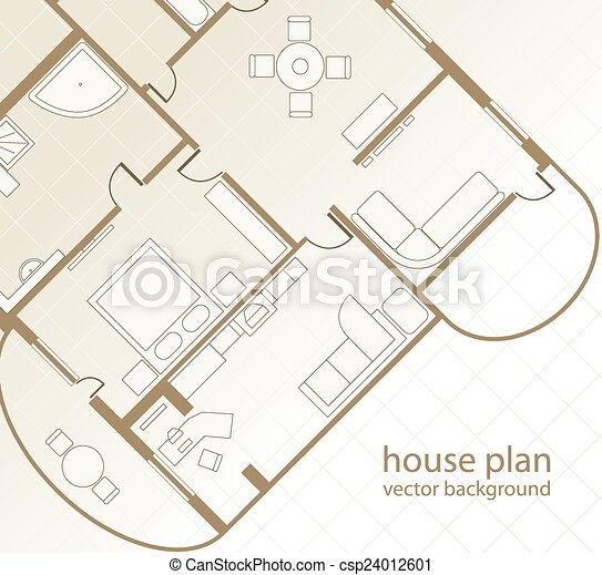 House plan. architectural background. vector illustration vector ...