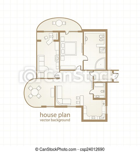 House Plan. Vector illustration - csp24012690