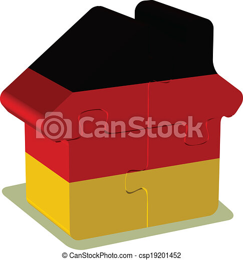 house puzzle with german flag clipart vector search illustration rh canstockphoto com
