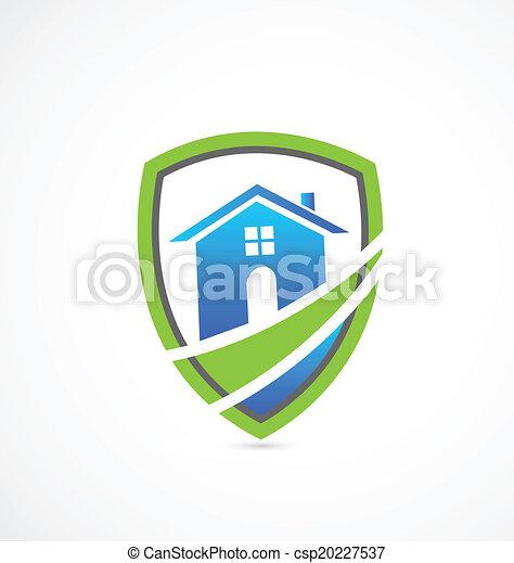 House real estate shield logo - csp20227537