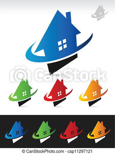 House Real Estate Swoosh Icons - csp11297121