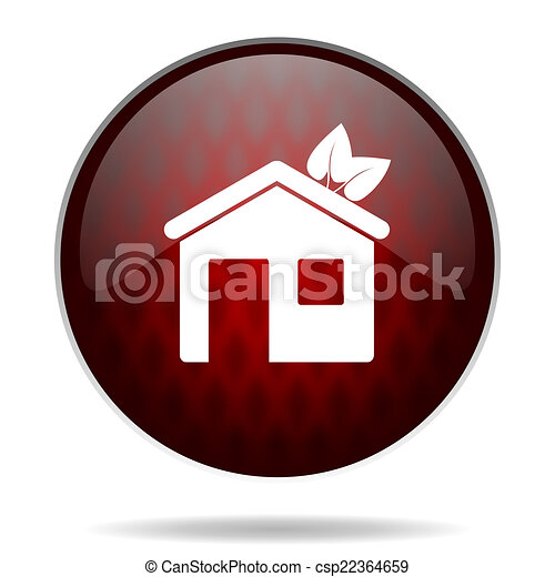house red glossy web icon on white background - csp22364659