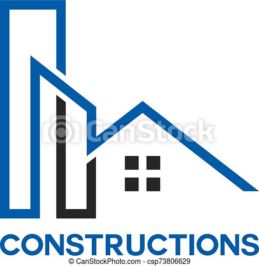 House Repair Logo Tools Icon Roof Repair Logo Repairs House Sign Home Improvement Icon Building Logo Construction
