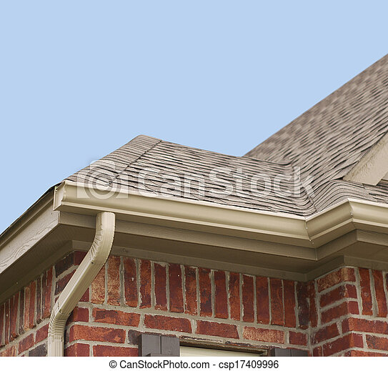 House Roof and Gutters - csp17409996