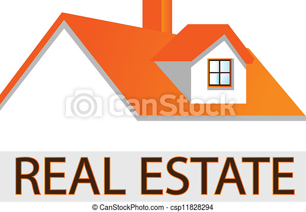 House roof logo for real estate - csp11828294