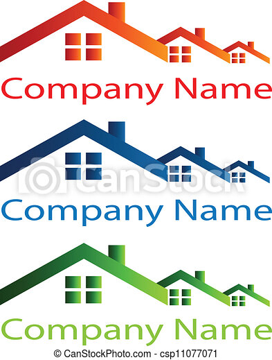House roof logo for real estate - csp11077071