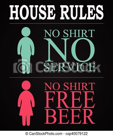 House rules - funny inscription