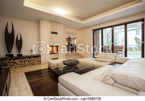 Casa Travertine: sala de estar - csp15986728