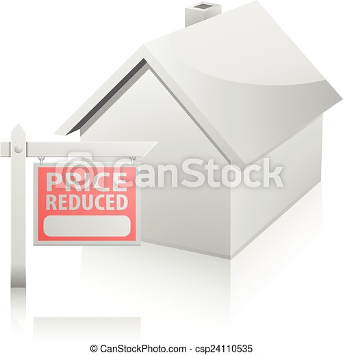 House Sign Price Reduced - csp24110535