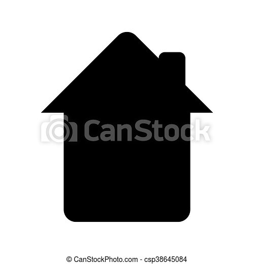 house silhouette design house silhouette with chimney isolated