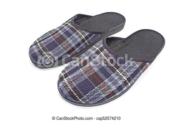 House slippers isolated on white background - csp52574210
