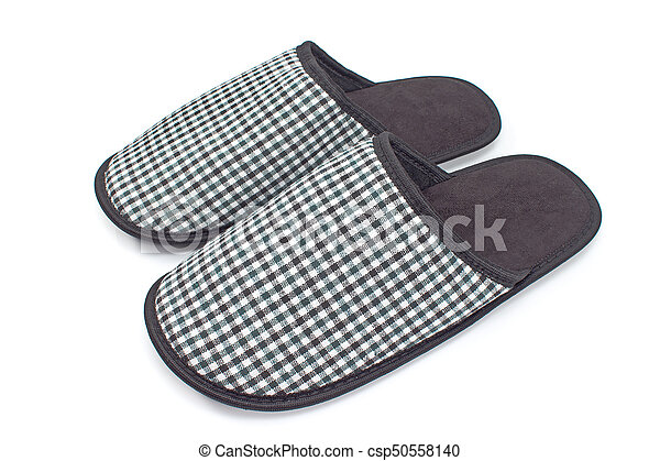 House slippers isolated on white background - csp50558140