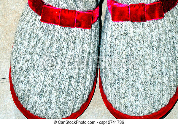 House slippers. - csp12741736