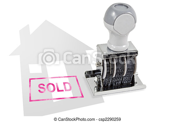 House Sold Rubber Stamp - csp2290259