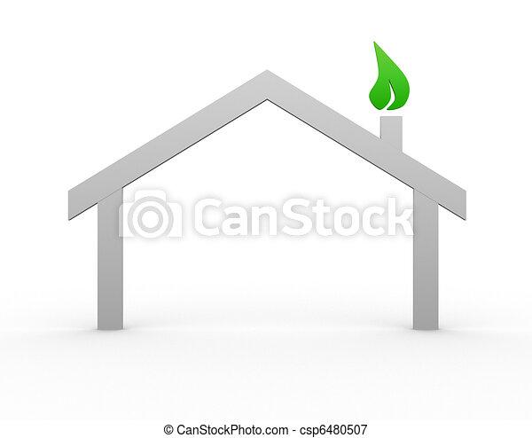 House symbol - csp6480507