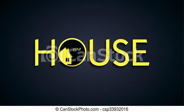 House text creative design. Vector Illustration - csp33932016