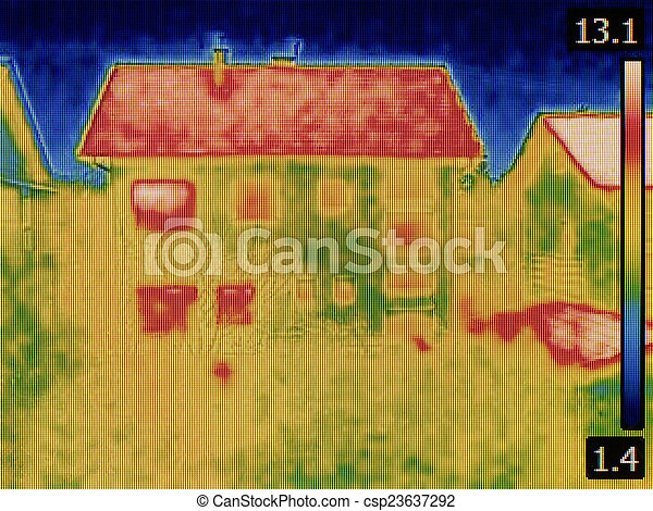 House Thermal Image - csp23637292