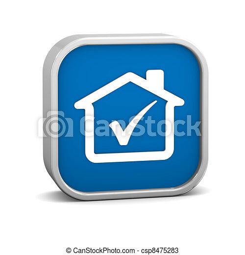 House Tick Sign - csp8475283