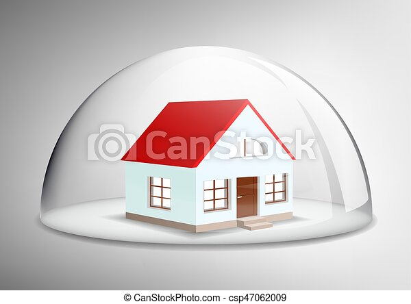 house under a glass dome - csp47062009