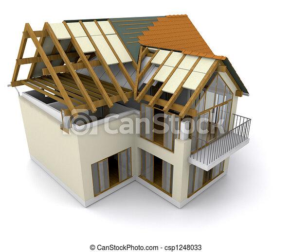House under construction - csp1248033