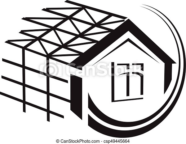 house under construction illustration - csp49445664