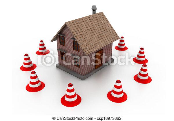 House under construction - csp18973862
