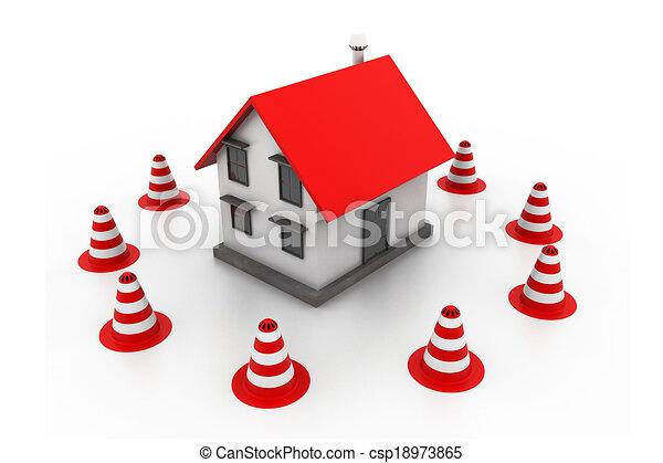 House under construction - csp18973865