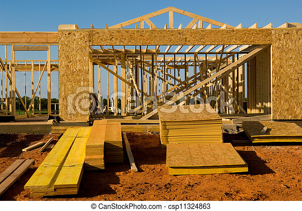 House  Under Construction - csp11324863