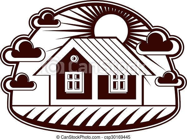 house vector detailed illustration village idea graphic eps rh canstockphoto com house icon vector free download house logo vector free download