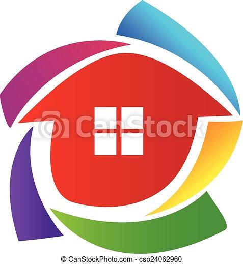 House  vector logo - csp24062960