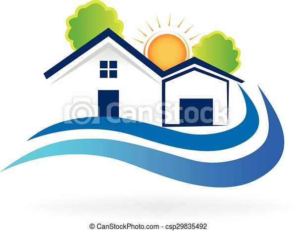 House waves logo vector - csp29835492