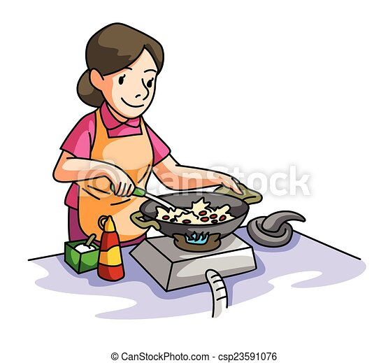 house wife cooking vectors illustration search clipart drawings rh canstockphoto com cooking clip art free images cooking clipart images