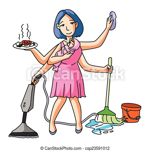 House Wife Multi Job - csp23591012